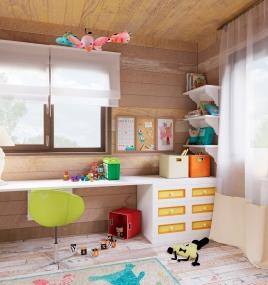 Детская комната для двух будущих малышей.