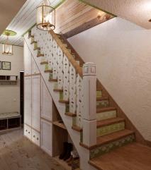 Прихожая. Лестница на второй этаж.